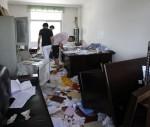 Verwüstete Büros