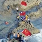 Die chinesischen Aktivisten gehen an Land