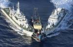 Japans Fregatten versuchen Chinas Aktivisten-Fischkutter zu stoppen
