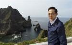 Suedkoreas Praesident Lee Myung-bak besucht Dokdo